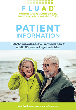 Brochure cove for FLUAD 65+ vaccine against influenza
