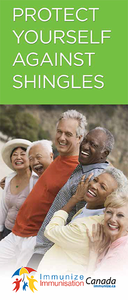Brochure cover for Protect Yourself against Shingles