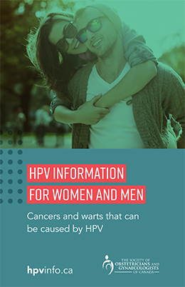 Brochure cover for HPV Information for Women and Men