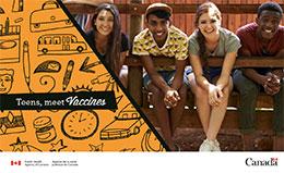 Brochure cover for teens meet vaccines