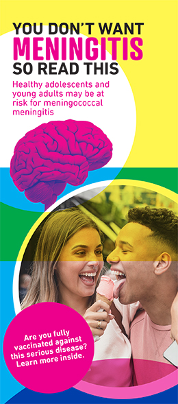 Brochure cover for meningococcal meningitis